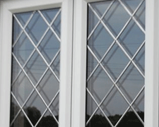 Diamond Leaded Window Design
